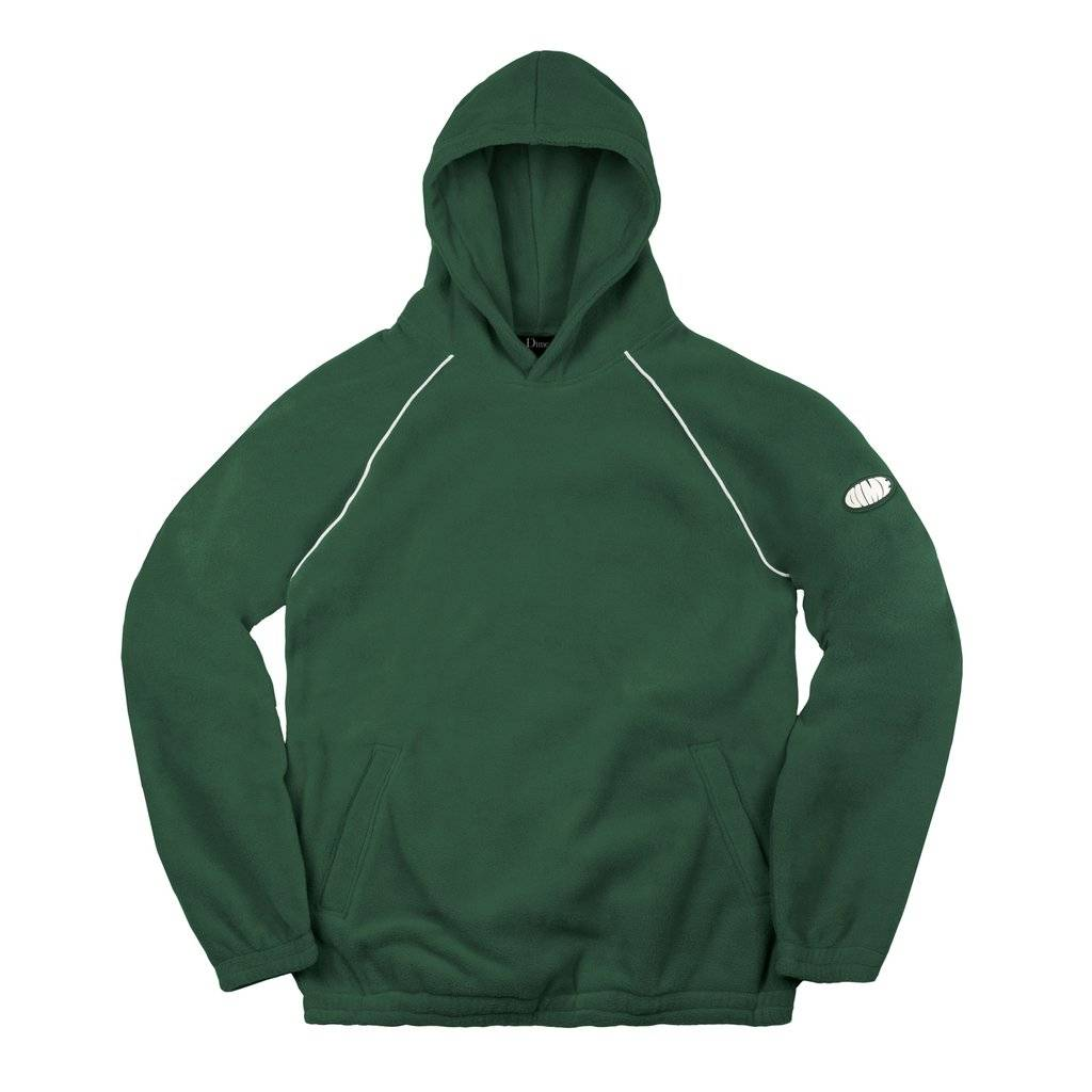 dime fleece hoodie green familia skateshop