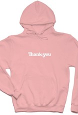 THANK YOU SKATEBOARDS THANK YOU CENTER HOODIE - PINK