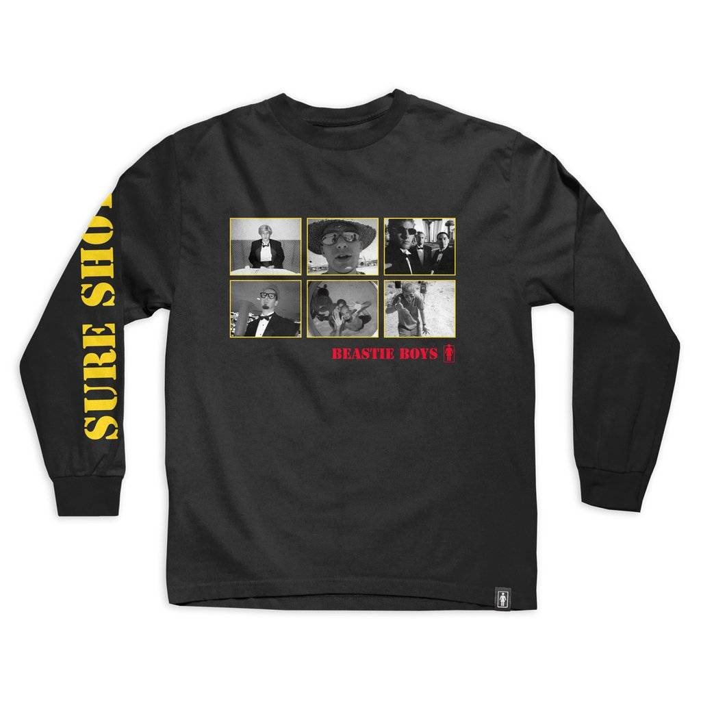 GIRL SKATEBOARDS GIRL SURE SHOT PHOTO L/S TEE
