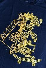 FAMILIA SKATESHOP FAMILIA AZTEC TEE - BLACK
