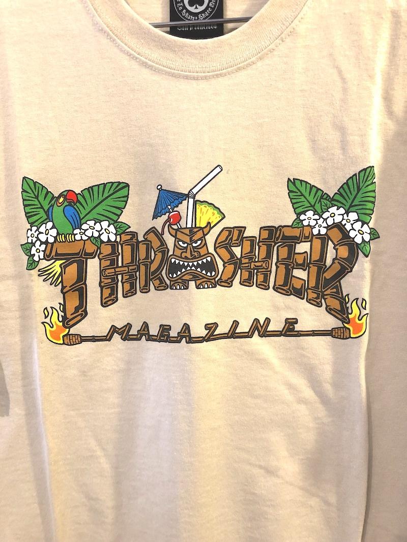 THRASHER MAGAZINE THRASHER TIKI TEE - SAND