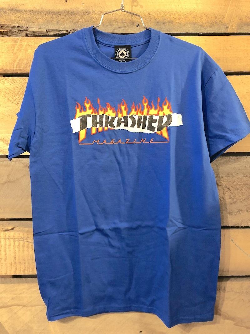 THRASHER MAGAZINE THRASHER RIPPED TEE - BLUE
