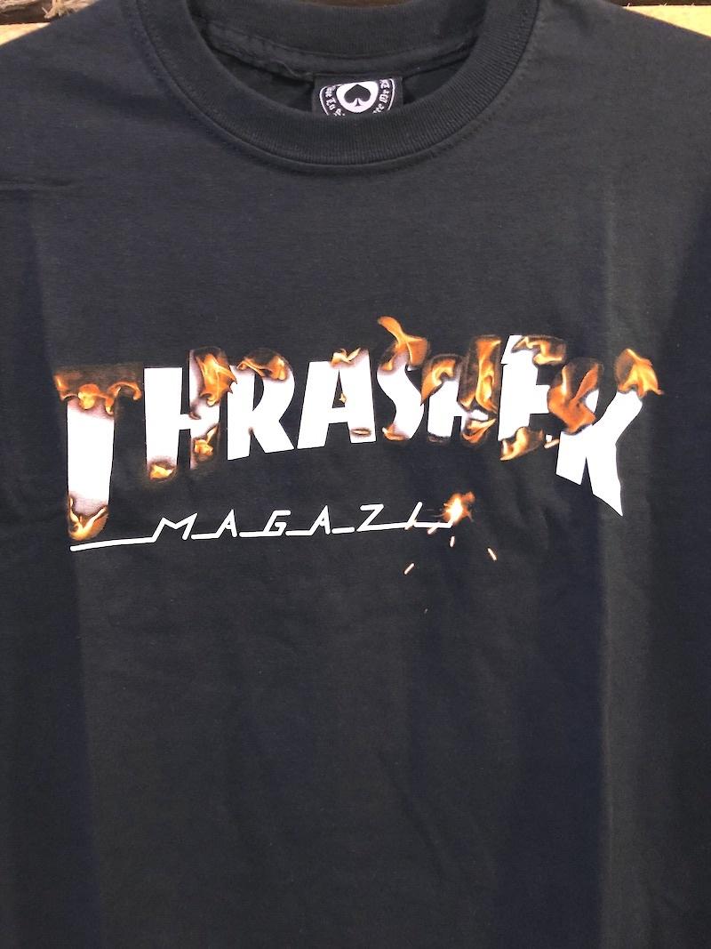 THRASHER MAGAZINE THRASHER BURNER TEE - BLACK