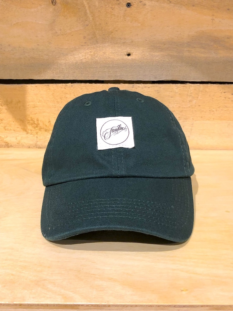FAMILIA SKATESHOP FAMILIA CLASSIC LABEL HAT - DARK GREEN