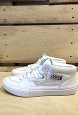 VANS VANS HALF-CAB LEATHER PRO WHITE