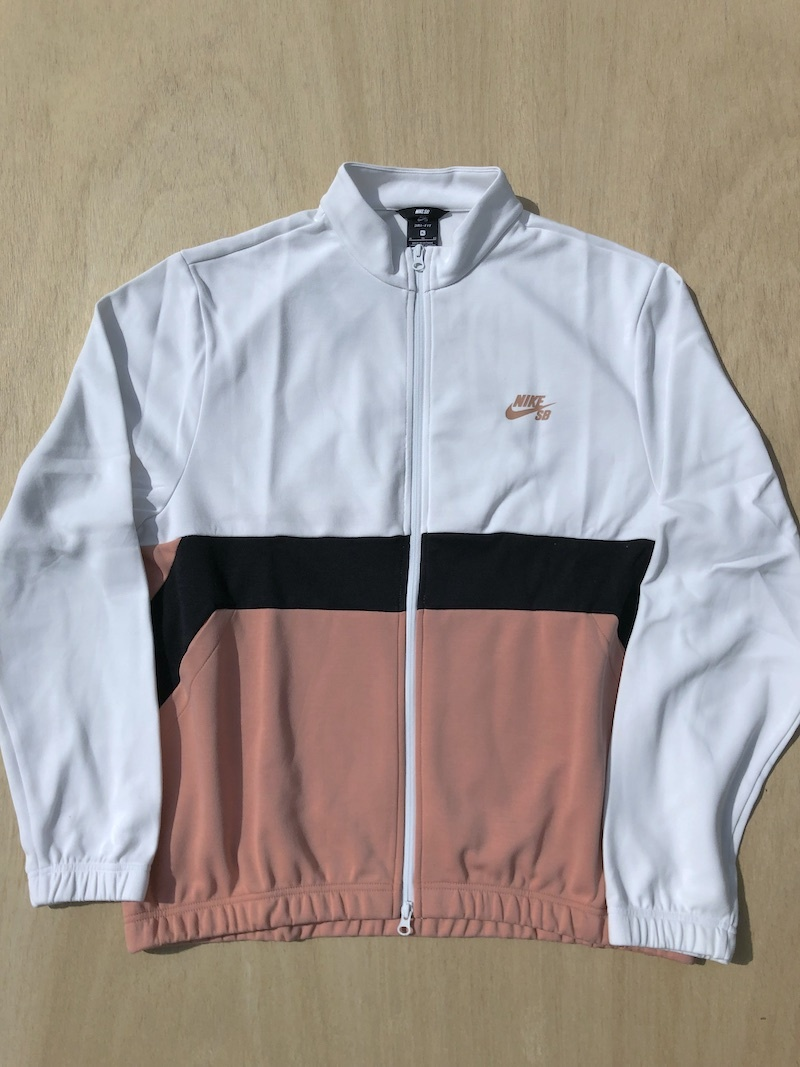 NIKE SB NIKE TRACK JACKET - WHITE/ROSE