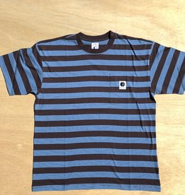 POLAR SKATE CO POLAR STRIPE POCKET TEE - BROWN/BLU