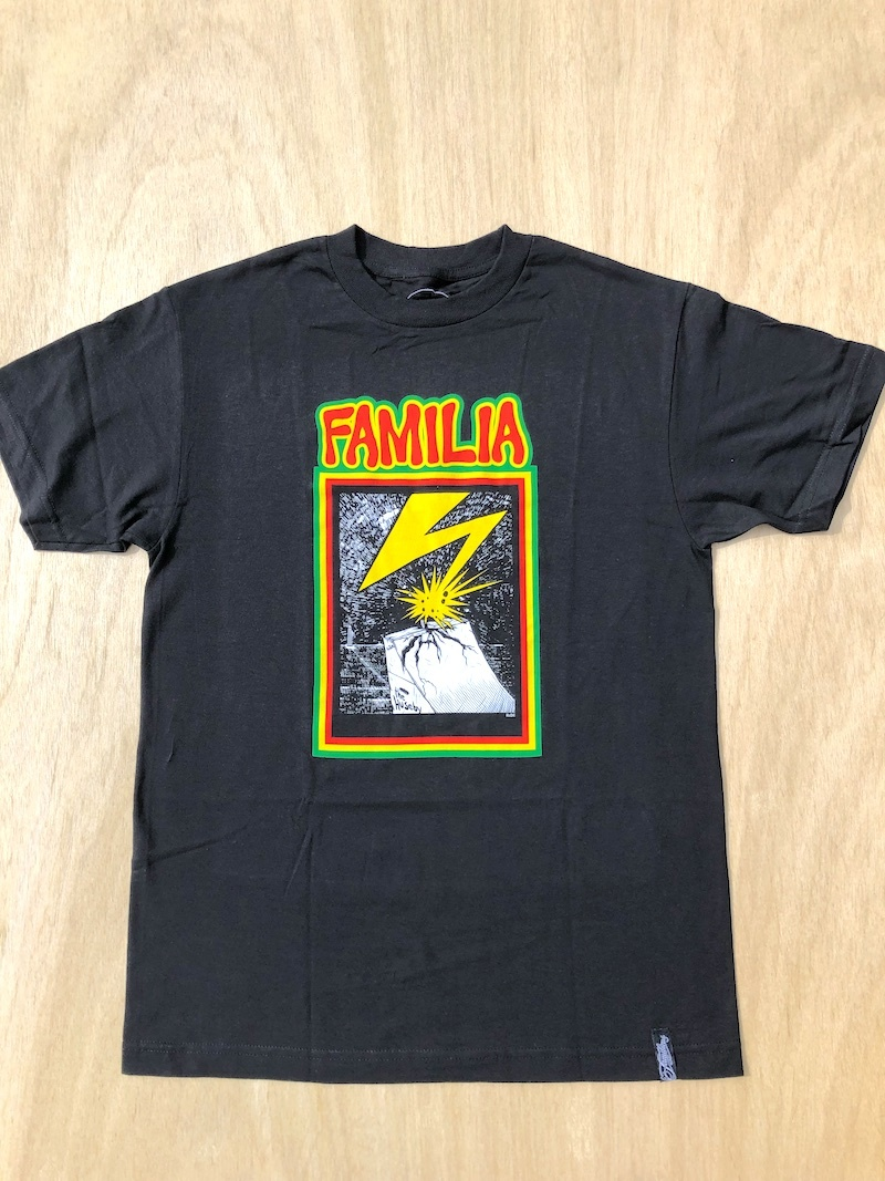 FAMILIA SKATESHOP FAMILIA RAMP TEE - BLACK