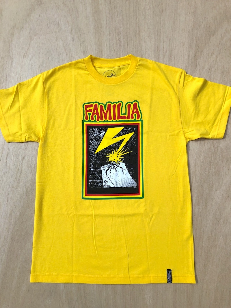 FAMILIA SKATESHOP FAMILIA RAMP TEE - YELLOW