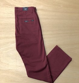 RVCA RVCA WEEKEND PANT - BORDEAUX