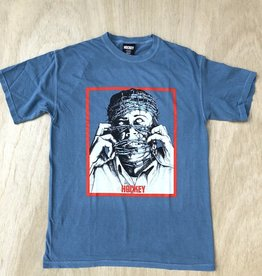 HOCKEY HOCKEY BARBWIRE PIGMENT DYE TEE - ICY BLUE