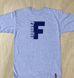 FAMILIA SKATESHOP FAMILIA SIDELINE TEE - HEATHER GREY
