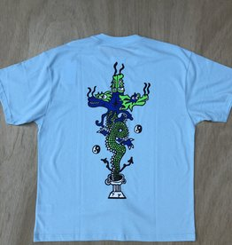 POLAR SKATE CO POLAR DRAGON TEE - AQUA