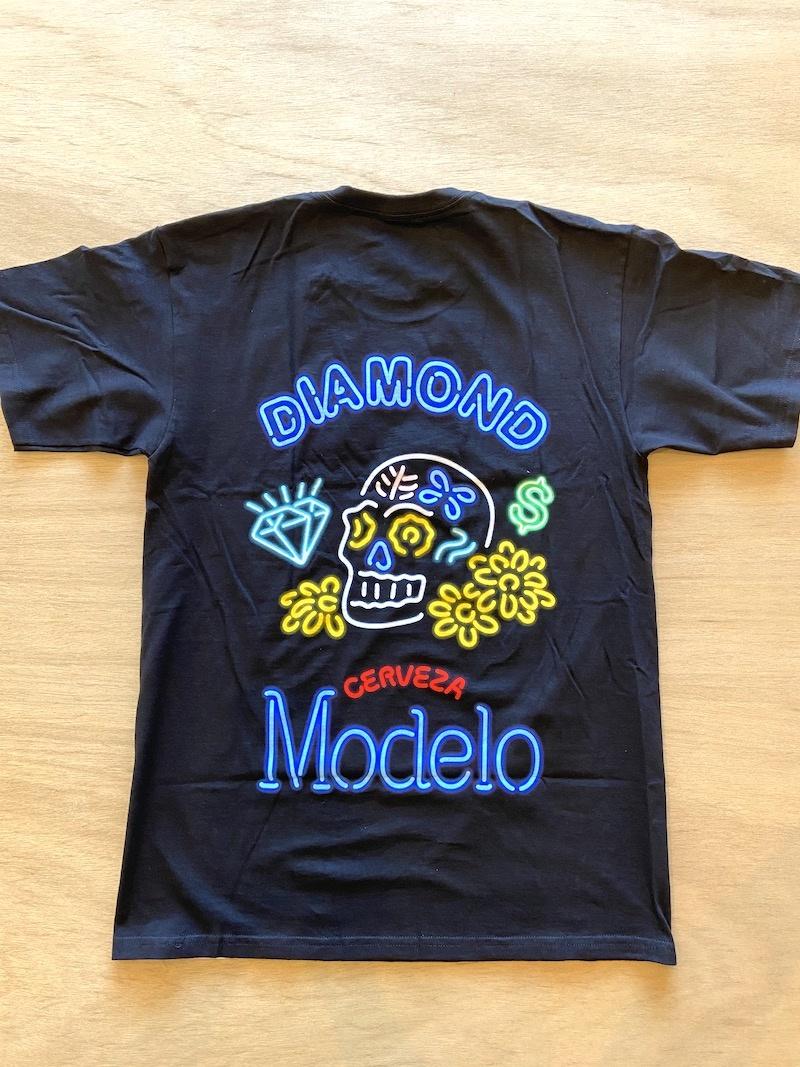 DIAMOND SUPPLY CO DIAMOND X MODELO NEON SIGN TEE