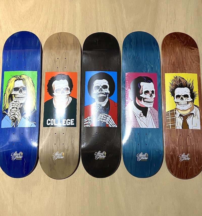 GIRL SKATEBOARDS GIRL SKATEBOARDS SKULL OF FAME DECKS