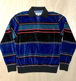 FA ENTERTAINMENT FUCKING AWESOME BLOCK STRIPE VELOUR 1/4 ZIP