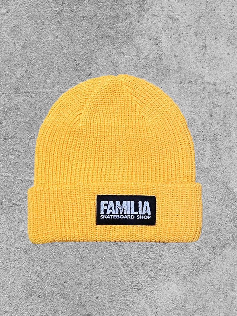 FAMILIA SKATESHOP FAMILIA BLOCK BEANIE - GOLD