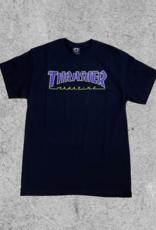 THRASHER MAGAZINE THRASHER OUTLINED TEE - BLACK