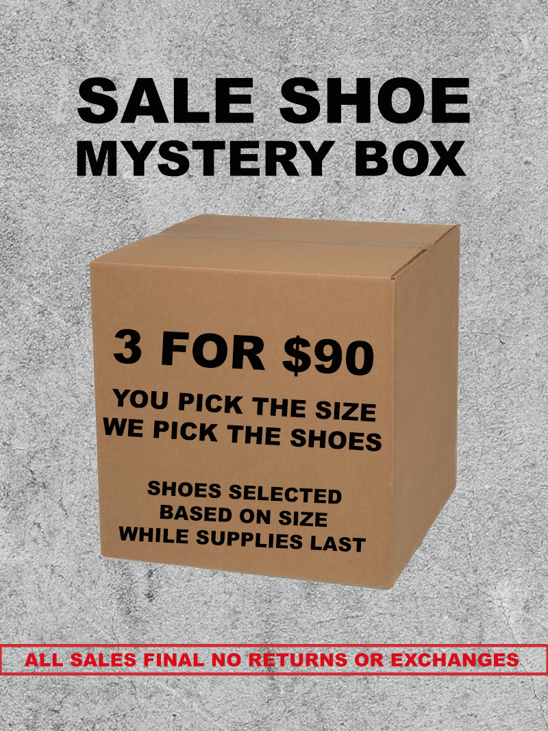 SALE SHOE MYSTERY BOX 3 FOR $90