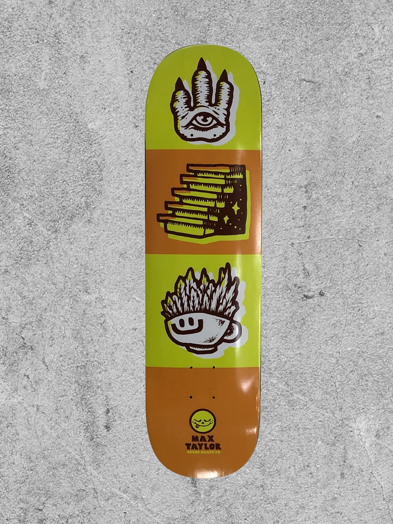 "ROGER SKATEBOARDS ROGER TAYLOR TRIP OUT 8.5"" DECK"