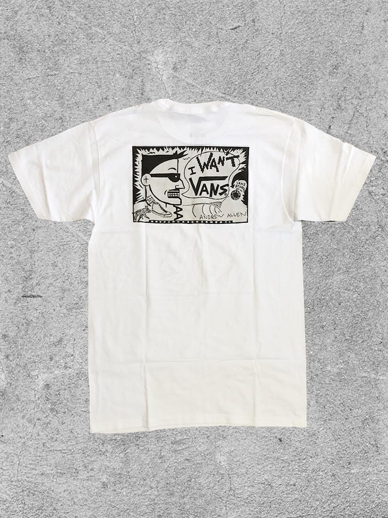 VANS VANS ALLEN TEE - WHITE