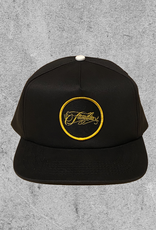 FAMILIA SKATESHOP FAMILIA OUTLINE 5 PANEL HAT - BLACK