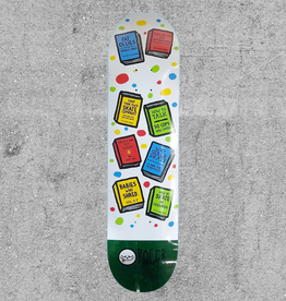 "ROGER SKATEBOARDS ROGER REQUIRED READING 8"" DECK"