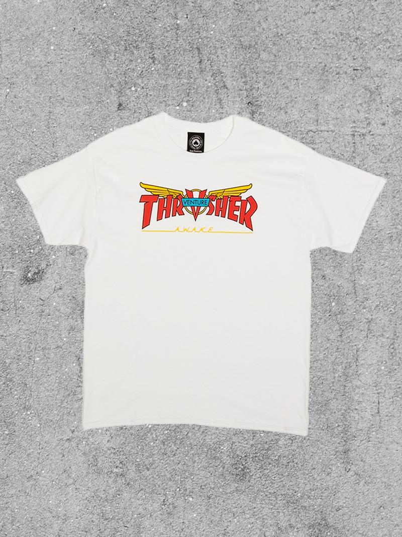 THRASHER MAGAZINE THRASHER X VENTURE TEE - WHITE
