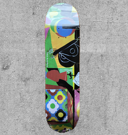 "POLAR SKATE CO POLAR OSKAR VASE & MOTH EVERSLICK 8.25"" DECK"