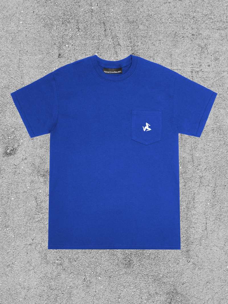 917 917 LEGS POCKET TEE - ROYAL