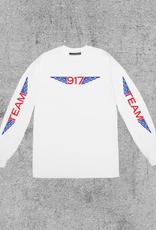 917 917 TEAM WINGS L/S TEE - WHITE