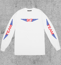 917 917 TEAM WINGS L/S TEE - WHITE