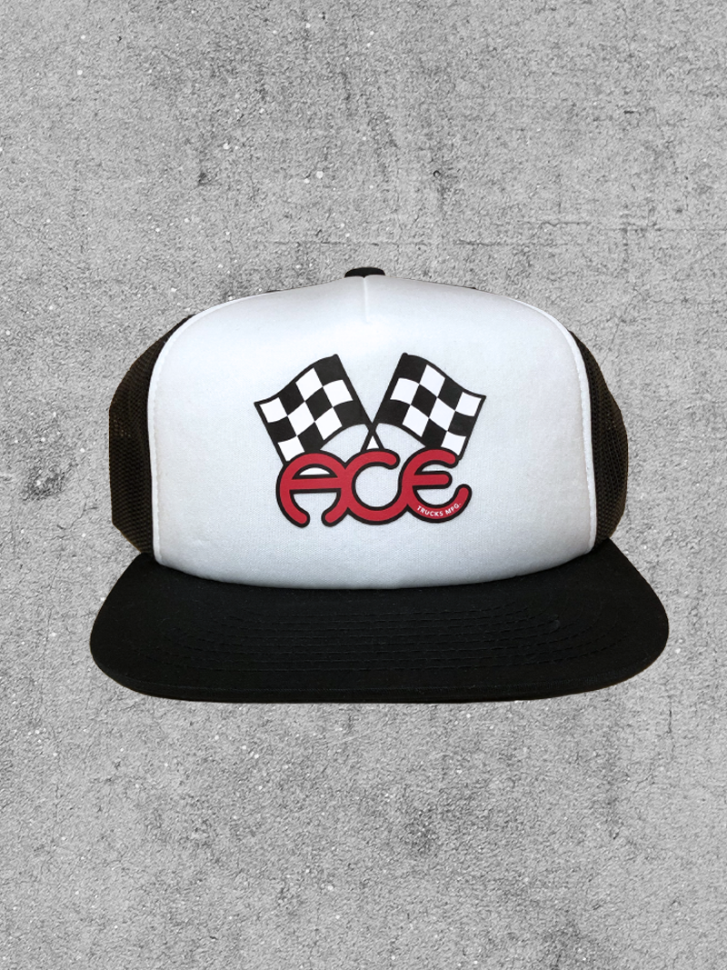 ACE MFG ACE TRUCKS FLAGS TRUCKER HAT
