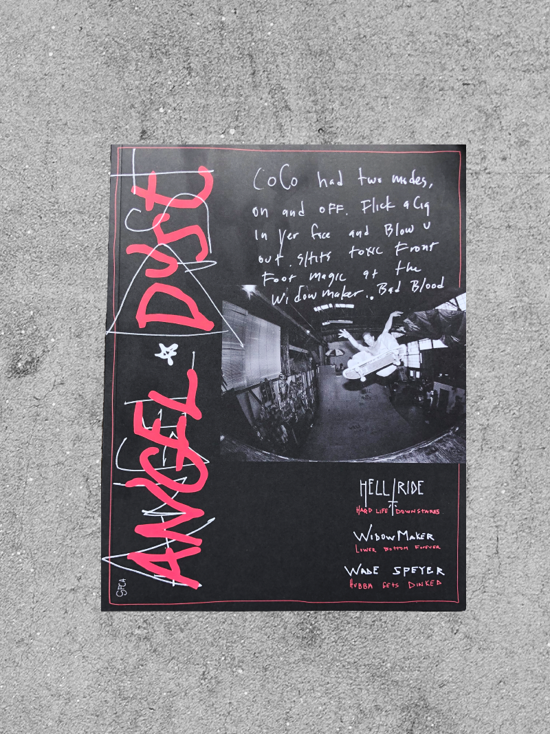 THRASHER MAGAZINE THRASHER ANGEL DUST ZINE