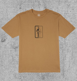 VOLCOM VOLCOM X GIRL BOX IT UP TEE - SAND