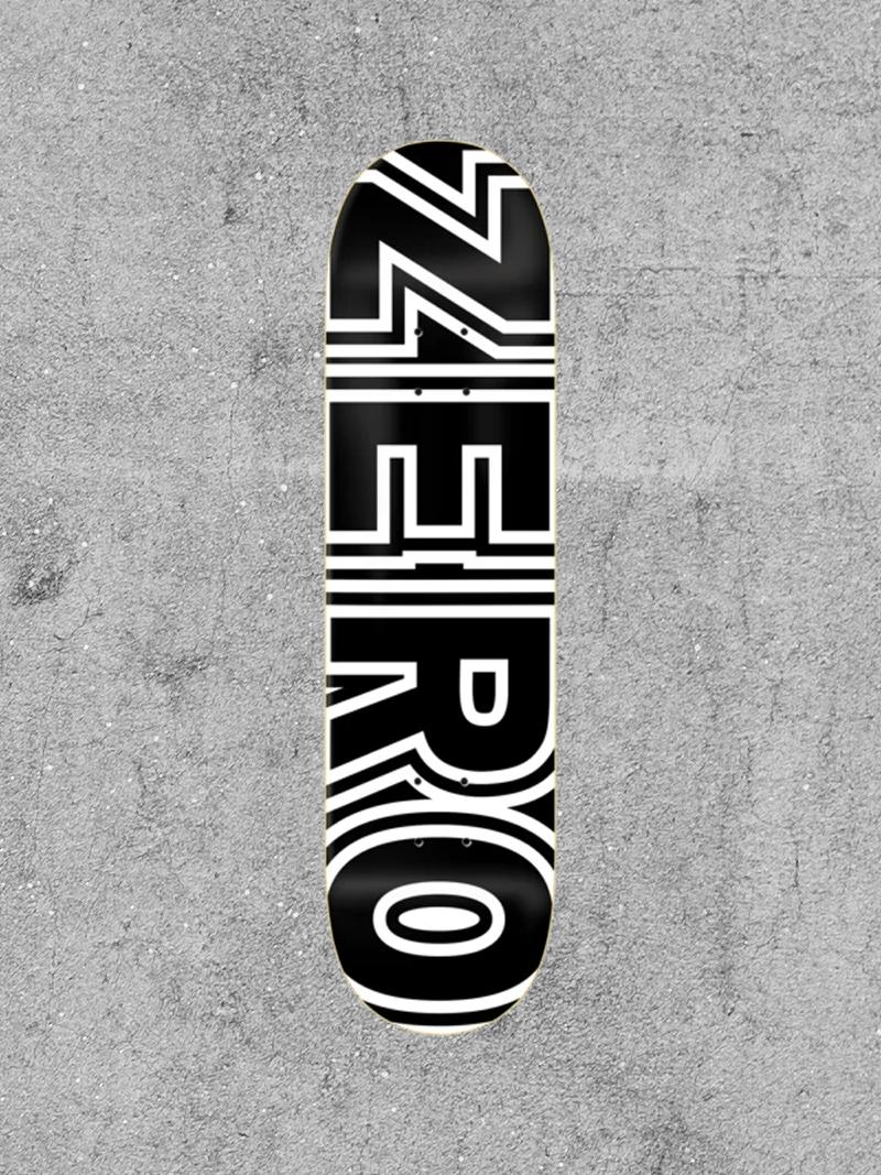"""ZERO SKATEBOARDS ZERO CLASSIC BOLD 8.1"""" DECK"""