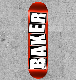 "BAKER BOYS DISTRIBUTION BAKER BRAND LOGO RED FOIL 8"" DECK"