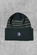 POLAR SKATE CO POLAR DOUBLE FOLD MERINO BEANIE - GREEN STRIPE