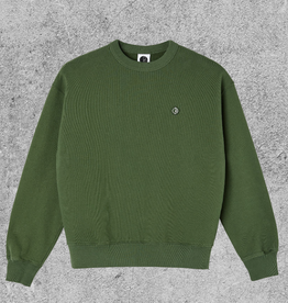 POLAR SKATE CO POLAR PATCH CREWNECK - HUNTER GREEN