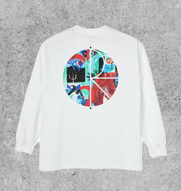 POLAR SKATE CO POLAR MOTH HOUSE FILL LOGO L/S - WHITE