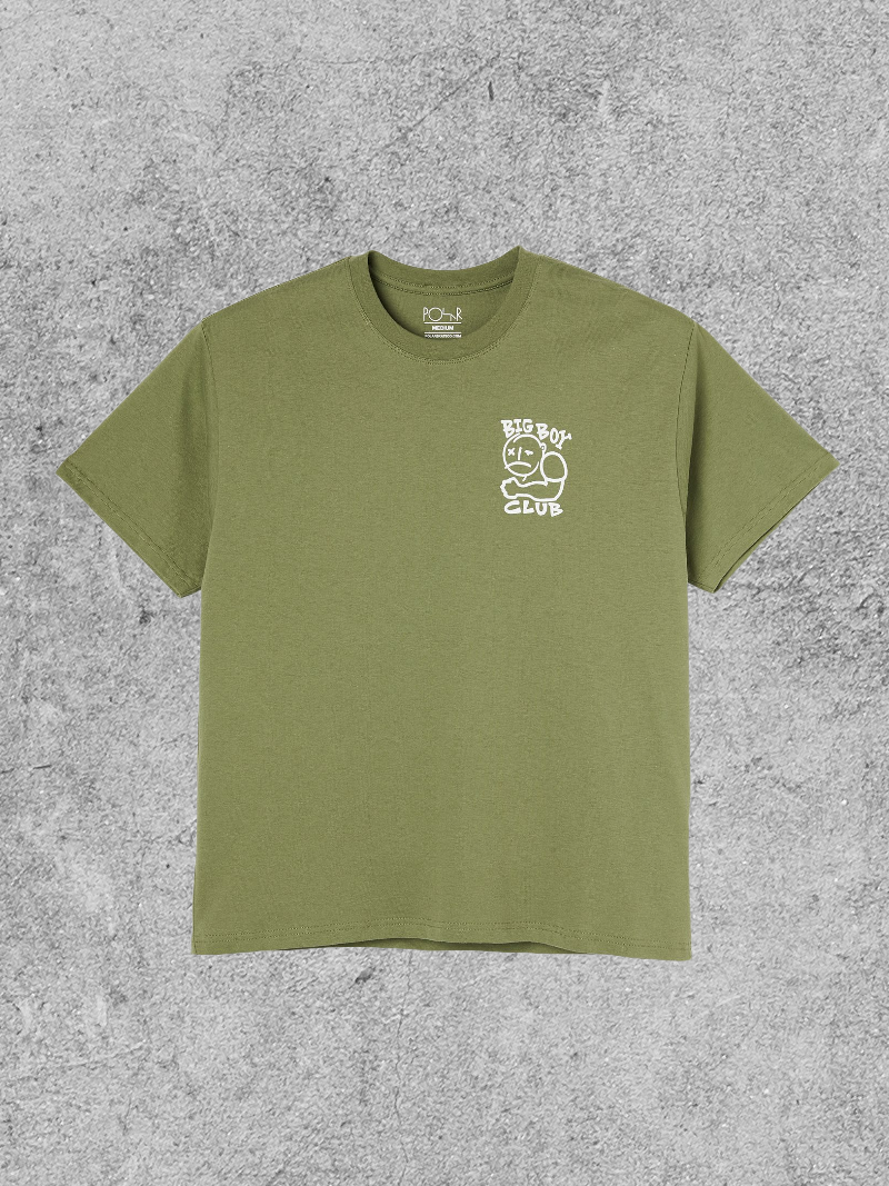 POLAR SKATE CO POLAR BIGBOY CLUB TEE - KHAKI