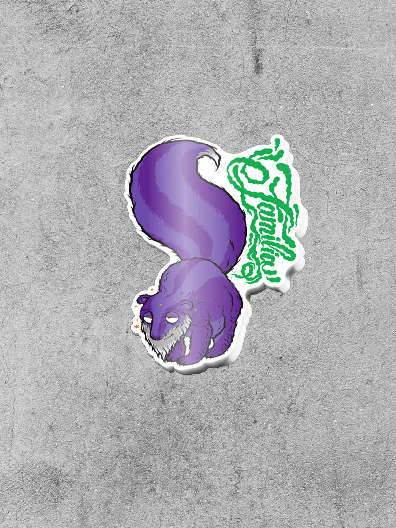 "FAMILIA SKATESHOP FAMILIA GDP SKUNK 5"" STICKER"