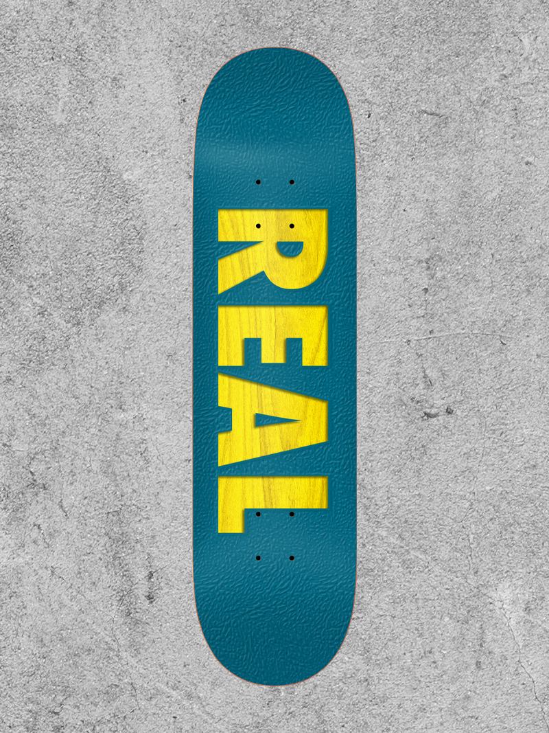 """REAL SKATEBOARDS REAL BOLD TEAM SERIES 8.25"""" DECK"""