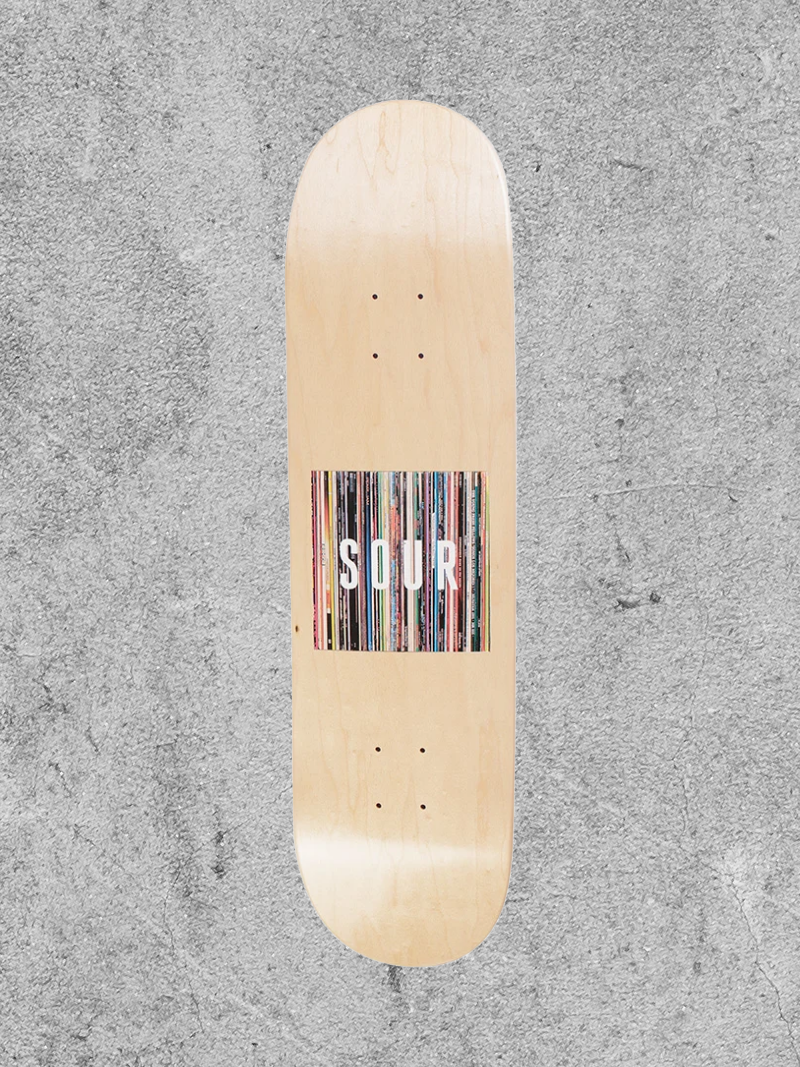 "SOUR SOLUTION SOUR BOX LOGO VINYLS 8.25"" DECK"