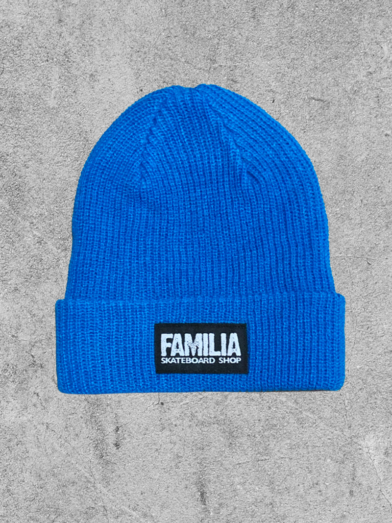 FAMILIA SKATESHOP FAMILIA BLOCK BEANIE - BLUE