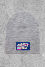 QUARTER SNACKS QUARTER SNACKS LABEL BEANIE - GREY