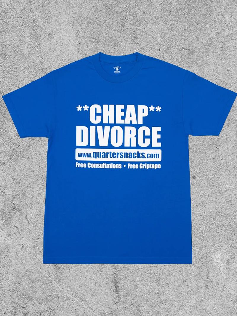 QUARTER SNACKS QUARTER SNACKS DIVORCE TEE - ROYAL
