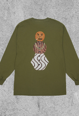 QUARTER SNACKS QUARTER SNACKS SNACK MAN L/S - OLIVE