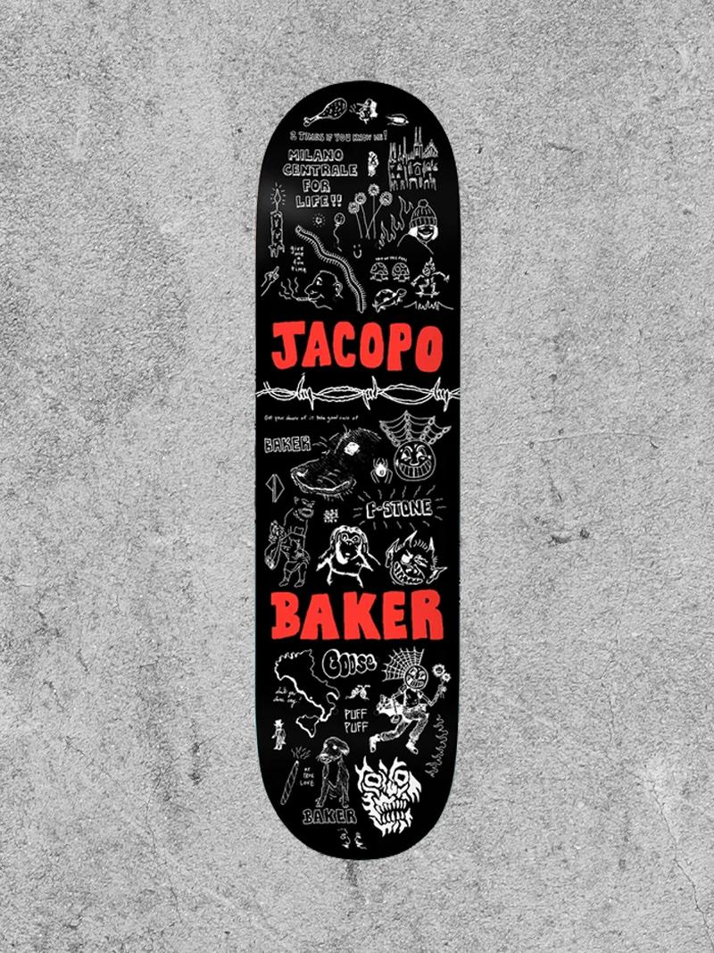 """BAKER SKATEBOARDS BAKER JACOPO PUFF PUFF 8.5"""" DECK"""
