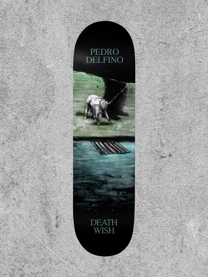 "BAKER BOYS DISTRIBUTION DEATHWISH DELFINO DOG 8.25"" DECK"